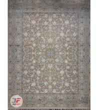 فرش بزرگمهر طرح افشان گل برجسته زمینه بژ کد ۵۲۱۰۱۱۶۰۹