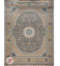فرش گل برجسته بزرگمهر 1000 شانه زمینه خاکستری کد 521011605