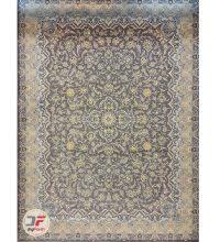 فرش بزرگمهر طرح افشان گل برجسته زمینه خاکستری کد ۵۲۱۰۱۱۶۰۸