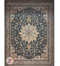 فرش گل برجسته بزرگمهر زمینه سبز کد 521011606