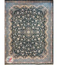 فرش بزرگمهر طرح افشان گل برجسته زمینه سبز کد ۵۲۱۰۱۱۶۰۸