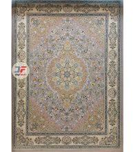 فرش 1000 شانه بزرگمهر گل برجسته زمینه یاسی کد 521011602