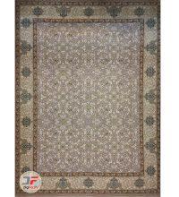 فرش بزرگمهر طرح افشان گل برجسته زمینه یاسی کد 521011603