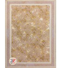 فرش بزرگمهر طرح افشان گل برجسته زمینه بژ کد ۱۱۶۲۷