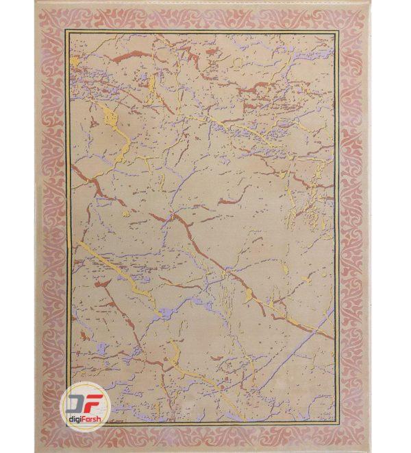 فرش مدرن و فانتزی بزرگمهر کاشان زمینه بژ کد 521011628