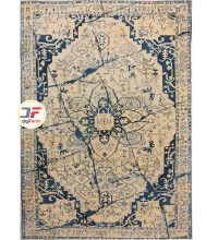فرش گل برجسته کاشان زمینه بژ کد 521011631