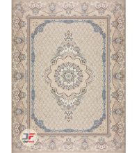 فرش ماشینی بزرگمهر 1000 شانه زمینه کرم کد 521011625