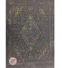 فرش گل برجسته بزرگمهر زمینه خاکستری کد 521011640