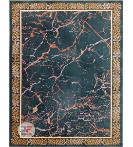 فرش بزرگمهر طرح فانتزی زمینه سبز کد 521011628