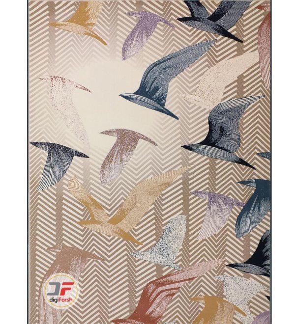 فرش 1000 شانه گل برجسته زمینه سفید کد 521011617