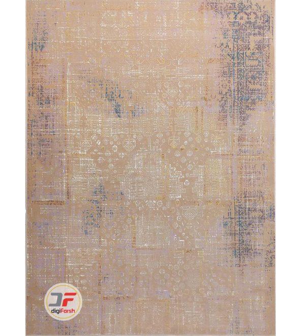 فرش ماشینی بزرگمهر طرح وینتیج زمینه بژ کد 11630