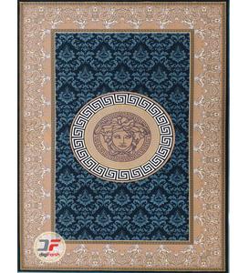 فرش مدرن و فانتزی بزرگمهر طرح گل برجسته زمینه سبز کد 11636
