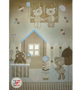 فرش اتاق کودک طرح خرس و دوستانش کد 6141307