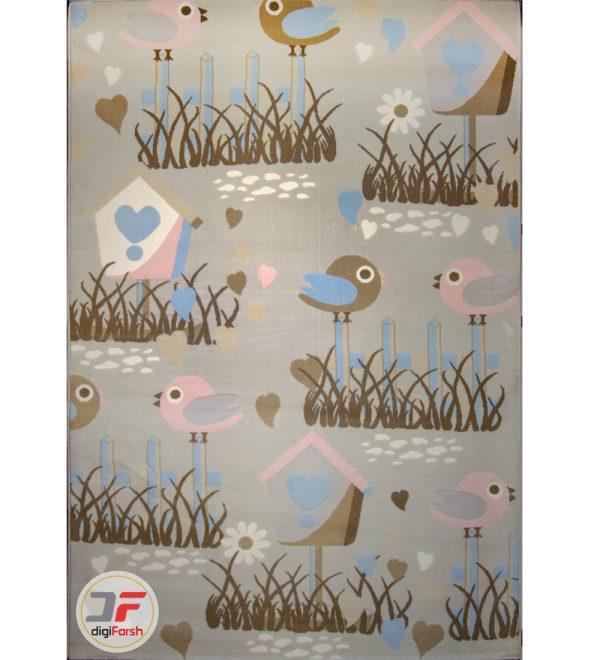فرش ماشینی اتاق کودک طرح اردک کد 6141309