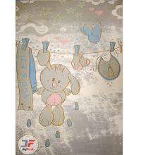 فرش کودک کاشان طرح خرس کد ۶۱۴۱۳۱۱