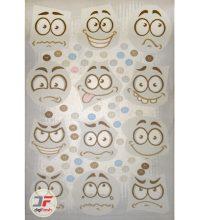 فرش اتاق کودک طرح استیکر تلگرام ۶۱۴۱۳۱۶