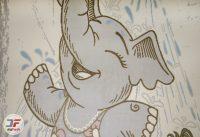 فرش اتاق کودک طرح فیل کد 6141317