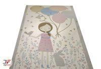 فرش کودک دخترانه بادکنک به دست کد 6141320