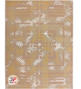 فرش وینتیج بزرگمهر طرح گل برجسته زمینه کرم کد 521011620