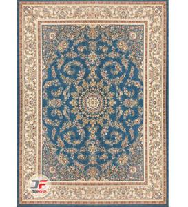 فرش 1200 شانه بزرگمهر کاشان - طرح گل برجسته زمینه آبی کد 15125