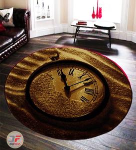 فرش دایره بزرگمهر کاشان طرح ساعت کد 1359