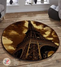 فرش گرد سه بعدی بزرگمهر طرح برج ایفل کد 1360