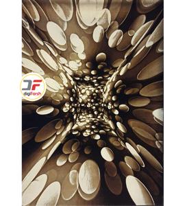 فرش اتاق پذیرایی کاشان - طرح سه بعدی کد 1370