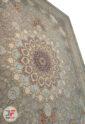 فرش ماشینی 1200 شانه کاشان زمینه فیلی کد 221233