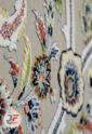 فرش ماشینی گل برجسته کاشان 1200 شانه زمینه فیلی کد 221240
