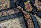 فرش 1200 شانه کاشان طرح افشان سرمه گل برجسته کد 221219