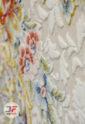 فرش افشان آبی 1200 شانه گل برجسته کاشان کد 221243