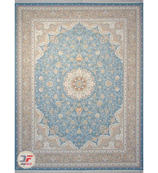 فرش گل برجسته کاشان 1200 شانه تراکم 3600 کد 221248