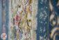 فرش افشان گل برجسته 1200 شانه ماشینی کاشان زمینه آبی کد 221227
