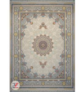 فرش گل برجسته کاشان طرح 1200 شانه زمینه فیلی کد 221222