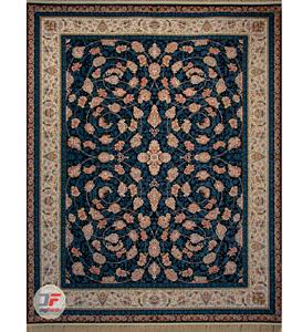 فرش 1500 شانه دیجی فرش زمینه سرمه ای کد 117
