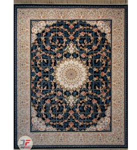 فرش 1500 شانه دیجی فرش زمینه سرمه ای کد 119