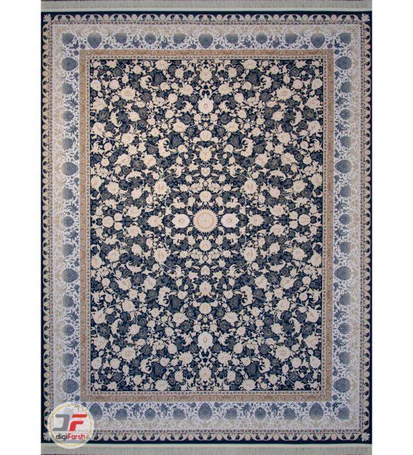 فرش 1500 شانه دیجی فرش زمینه سرمه ای کد 134