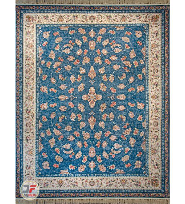 فرش 1500 شانه دیجی فرش طرح افشان زمینه سرمه ای کد 122