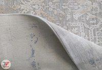 فرش وینتیج کاشان - طرح گل برجسته زمینه فیلی کد DC13