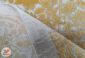 فرش ماشینی پتینه کاشان - طرح گل برجسته زمینه بژ کد DC 47