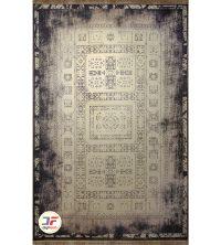 فرش ماشینی طرح وینتیج (کهنه نما) زمینه مشکی کد 406