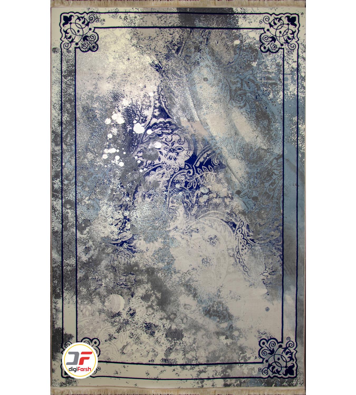 فرش ماشینی پتینه – زمینه طوسی کاشان کد ۶۱۴۲۴۲۲