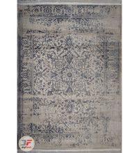 فرش پتینه ماشینی کاشان - طرح گل برجسته زمینه فیلی کد DC 12