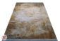 فرش کهنه نما ماشینی کاشان - طرح گل برجسته زمینه بژ کد DC 18