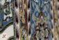 فرش کاشان گل برجسته 1200 شانه زمینه فیلی کد 221232