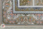 فرش کاشان 1200 شانه ماشینی گل برجسته زمینه فیلی کد 221216