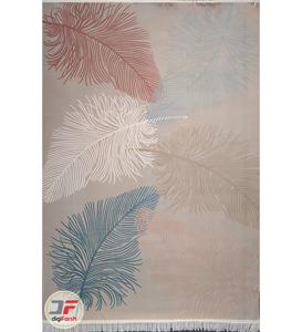 فرش ترک اتاق خواب طرح طاووس زمینه فیلی کد 2241012