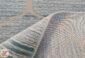 فرش ماشینی کاشان - طرح ترک مدل شهره زمینه آبی کد 2241011