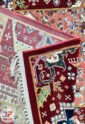 فرش خشتی سنتی ماشینی کاشان زمینه کرم کد 2270814