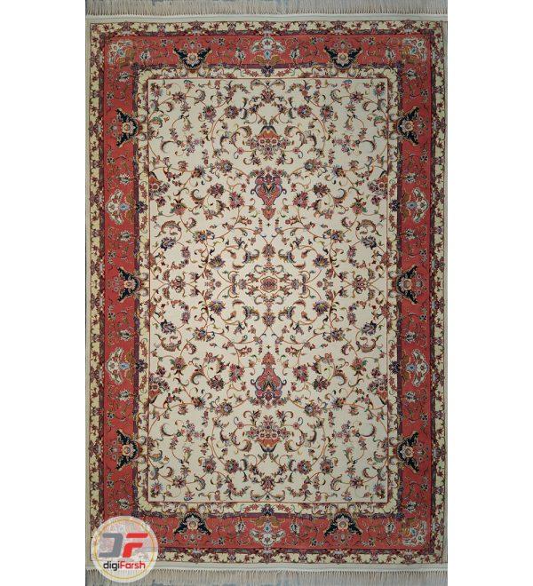 فرش سنتی افشان کاشان زمینه کرم کد 2270816